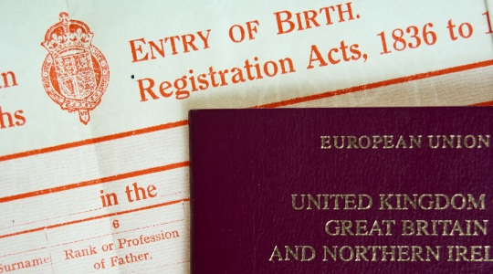Birth Certificate and Passport